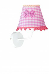 Бра Donolux W110053/1white frame + Shade C pink bow X S-W54/x, T56/x